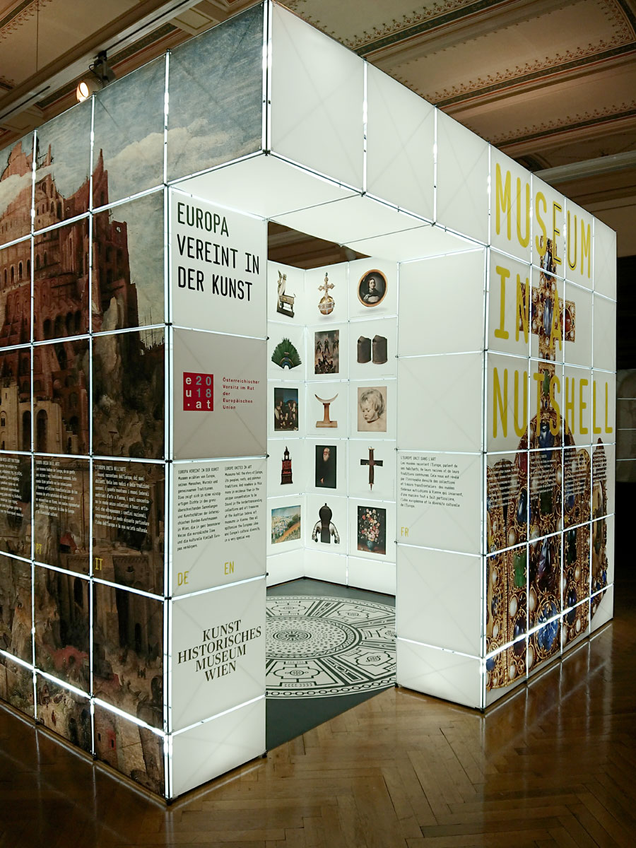 Vienna-Brussels: Traveling exhibition with clic: Europe united in art